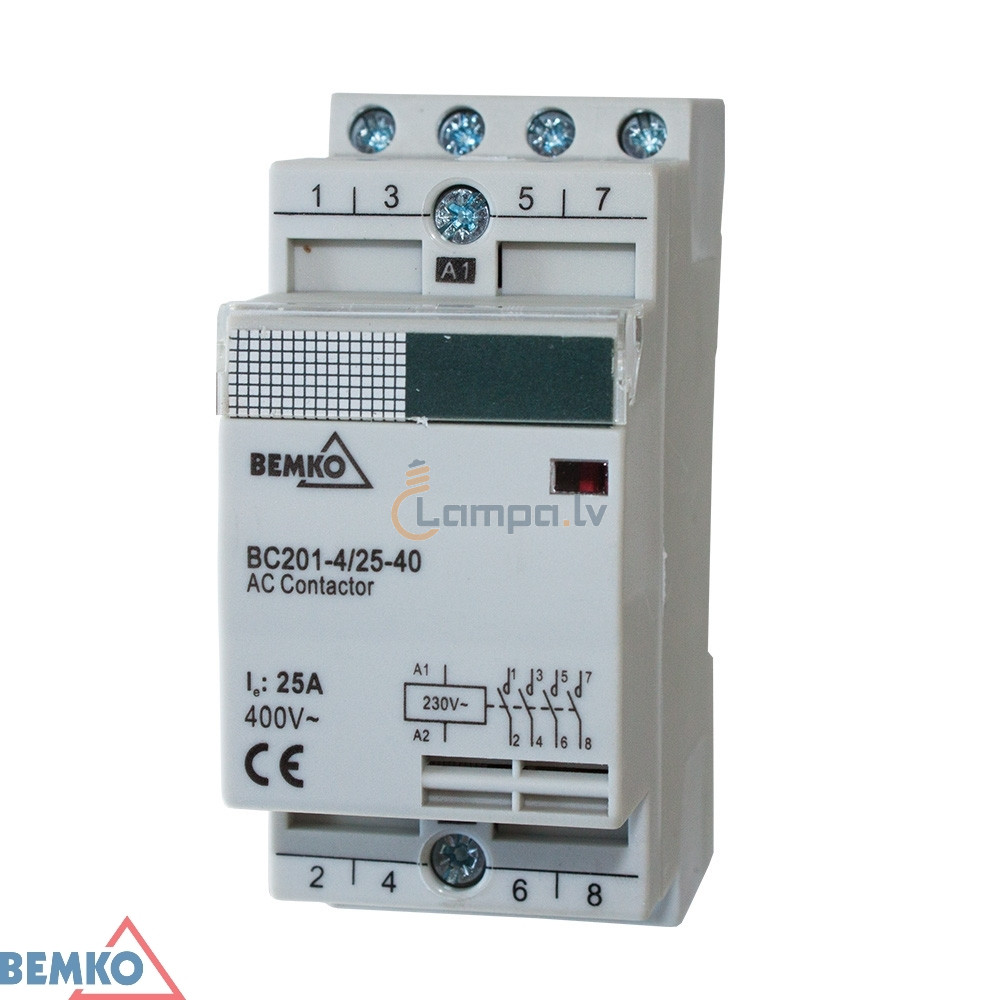 Installation Contactor 3F Bemko BC201 2P 25A TYPE 31 (3Z+ 1R)